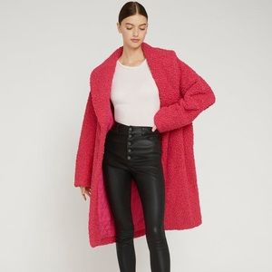 Brand New Alice + Olivia Hot Pink oversized coat M